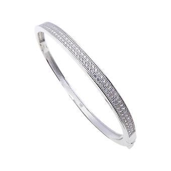 Christian silver cubic zirconia bracelet