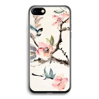 iPhone 7 透明ケース (ソフト) - 日本人の花