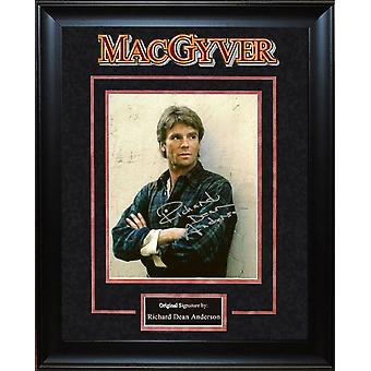 Macgyver- Signed by Richard Dean Anderson - Framed Artist Series