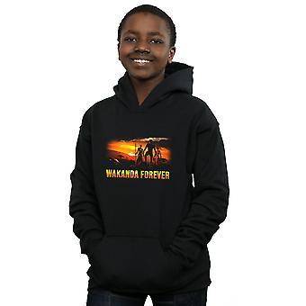 Marvel Boys Black Panther Wakanda Forever Hoodie