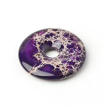1 x Purple Impression Jasper 40mm Donut Charm/Pendant CB37267