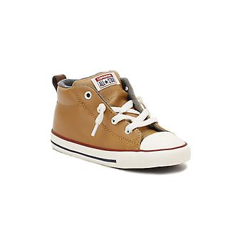 Converse All Star Chuck Taylor Street Infants Brown Mid Trainers