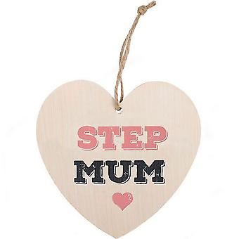 Something Different Step Mum Hanging Heart Sign