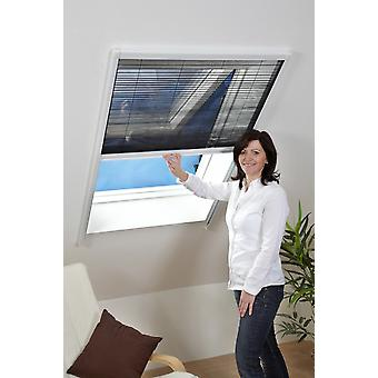 Fly mesh mosquito protection insect protection roof window sheet 80 x 160 cm in white