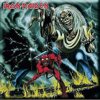 Iron Maiden Fridge Magnet Number of the Beast new Official 76mm x 76mm