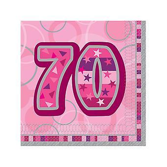 Compleanno di Glitz Pink - 70th Birthday - tovaglioli