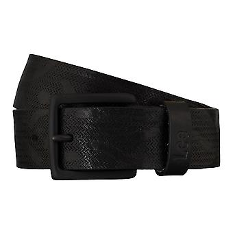 Cinturones de Lee cinturones hombre cuero correa negro 5420