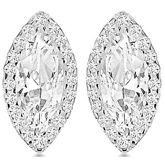 IBB London Dia Shape Earrings - Silver