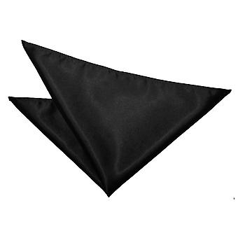Black Plain Satin Pocket Square