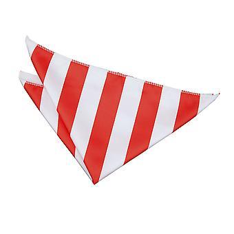 Plaza de bolsillo a rayas rojo y blanco