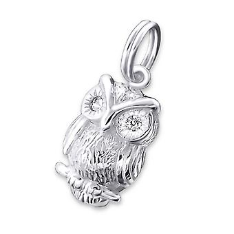Owl - 925 Sterling Silver Charms With Split Ring - W19525x