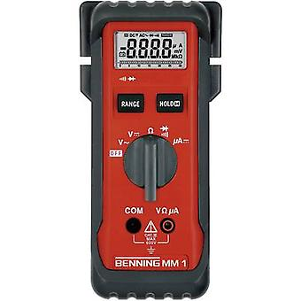 Benning MM 1 Handheld multimeter Digital CAT III 600 V Display (counts): 3200