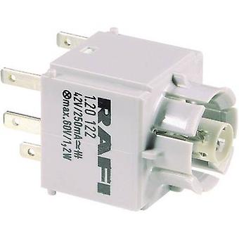 Contact + bulb holder 1 breaker, 1 maker momentary 42 V RAFI 1.20123.011 1 pc(s)