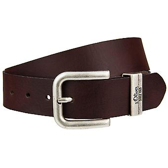 s.Oliver mens leather buckle riem 98.899.95.1772-8845