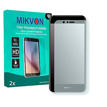 Huawei Nova 2 Screen Protector - Mikvon Clear (Retail Package with accessories) (intentionally smaller than the display due to its curved surface)
