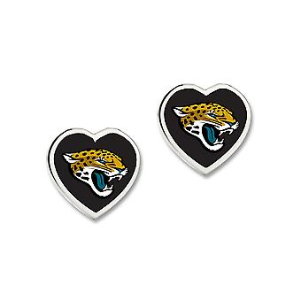 Wincraft ladies 3D heart Stud Earrings - NFL Jacksonville Jaguars