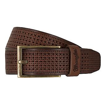 WRANGLER belt leather belts men's belts Brown 7457