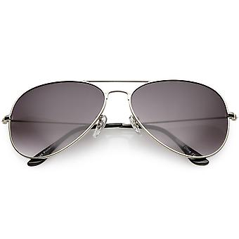 Large Oversize Aviator Sunglasses Metal Frame Gradient Lens 60mm