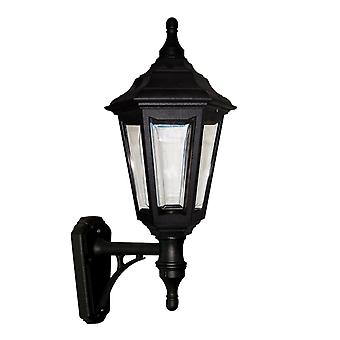 Elstead belysning Kinsale 6 sidig Utomhus vägg upp ljus i svart