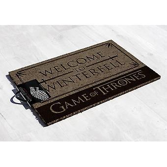 Game of Thrones Fußmatte Welcome to Winterfell bedruckt, aus Kokosfaser, Unterseite aus PVC.