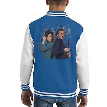 TV veces Avengers Diana Rigg y Varsity Jacket Patrick Macnee niños