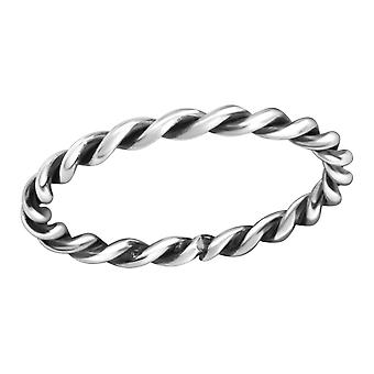 Rope - 925 Sterling Silver Plain Rings - W38311x