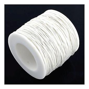 1 x hvit vokset bomull 5 m x 1 mm Thong ledningen sammenhengende Y06780