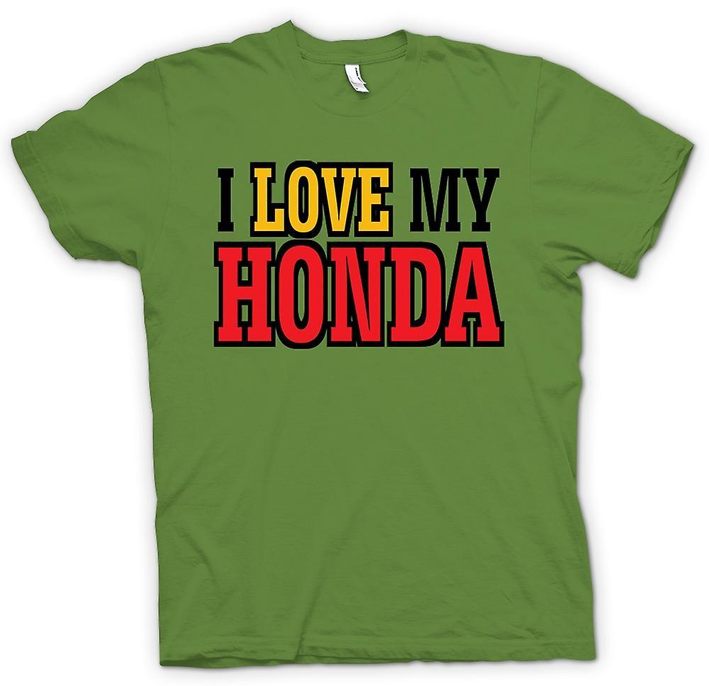 Mens t-skjorte - jeg elsker min Honda - bilentusiast