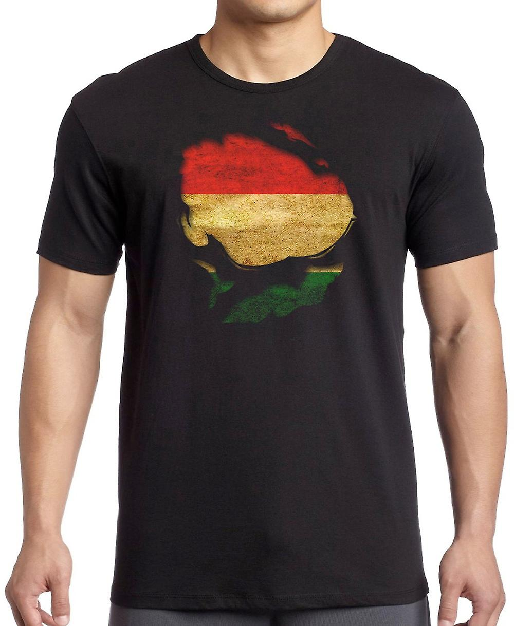 Central Africa Republic Ripped Effect Under Shirt T Shirt
