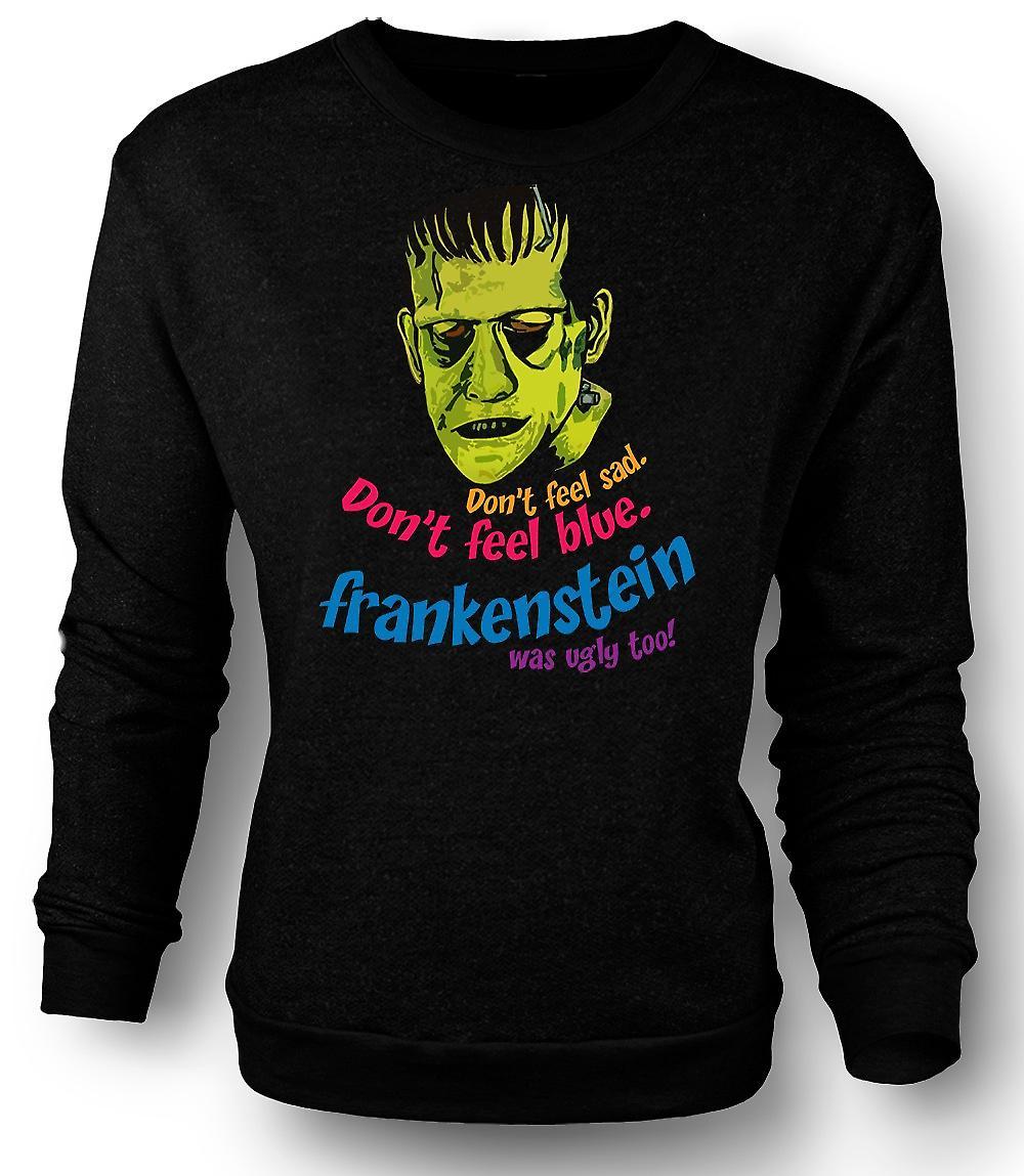 Mens Sweatshirt Frankenstein Was lelijk ook - grappig