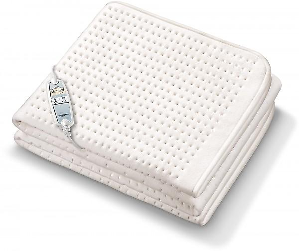 Beurer Monogram Fitted Single Electric Blanket With Adjustable Body And Feet Heat Settings