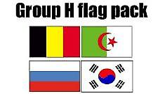 GRUPPEN H Football World Cup 2014 flagg Pack (5 ft x 3 ft)