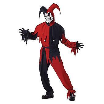 Mens Evil Jester Joker Halloween Clowns & Circus Film Fancy Dress Costume