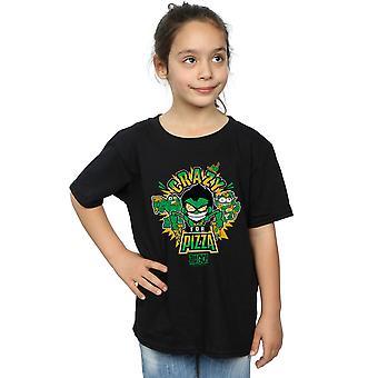 DC Comics jenter Teen Titans gå gale For Pizza t-skjorte