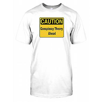 Caution Conspiracy Theory Ahead Kids T Shirt