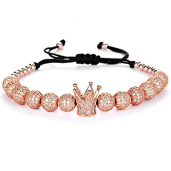 Armbänder-Krone und bunte Perlen rosé