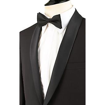 Dobell Mens Tuxedo nero giacca Regular Fit con revers scialle