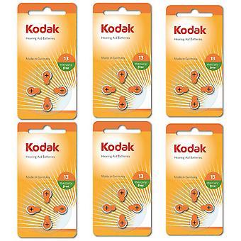 24-pack Kodak sink-luft høreapparat batterier 13, A13, PR48, oransje farge