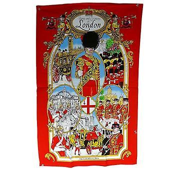 Union Jack porter faste et cérémonie de Londres torchon