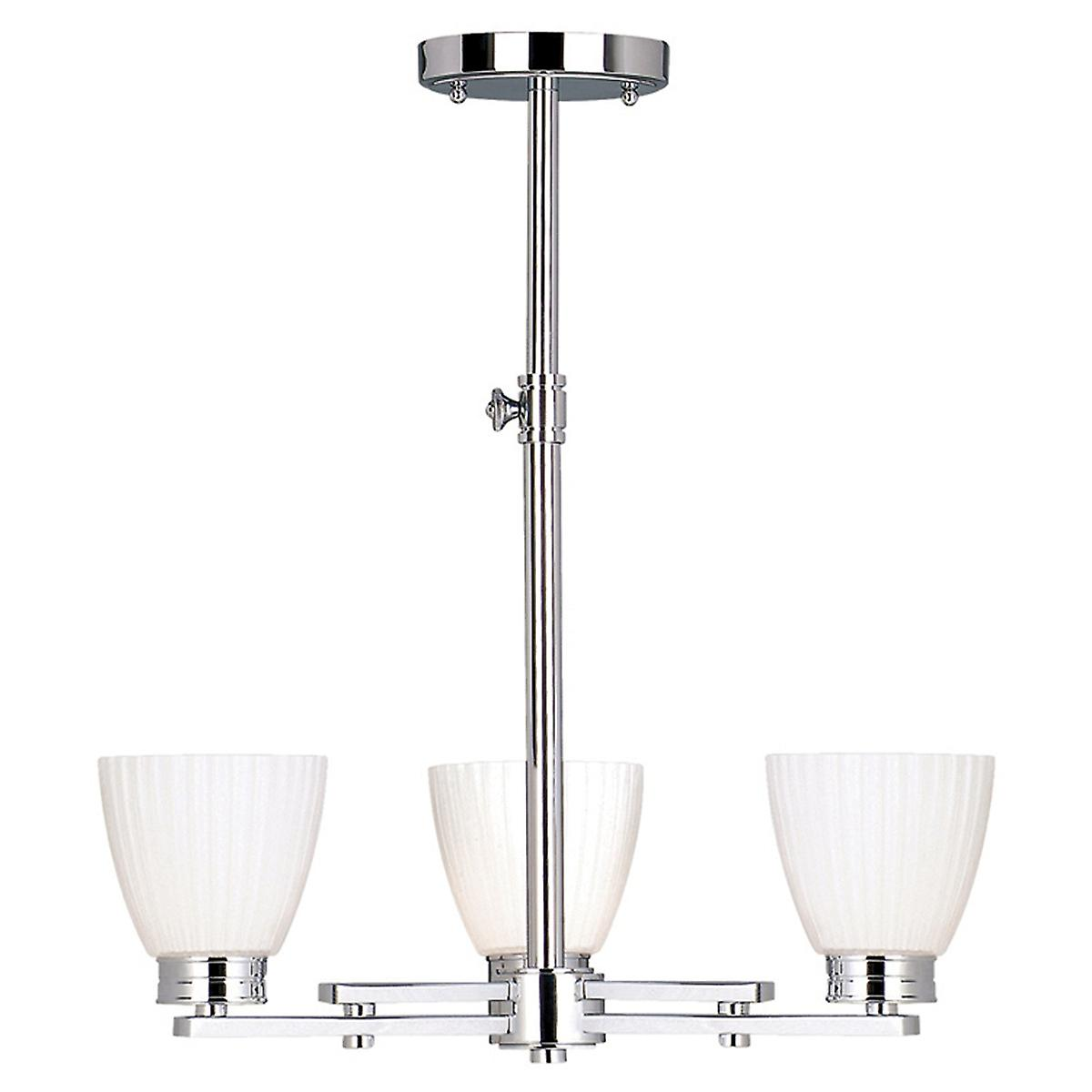 Elstead BATH/WL3 Wallingford Modern Chrome Bathroom Pendant with White Glass