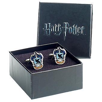 Harry Potter Ravenclaw Crest placcato argento Gemelli