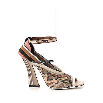 Fendi Multicolor Leather Sandals
