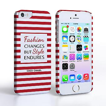 Caseflex iPhone 5and5s Chanel 'Fashion Changes' Quote Case – Red and White