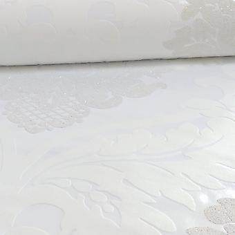 A.S. Creation AS Creation Damask Pattern Wallpaper Floral Leaf Embossed Glitter Motif 313911