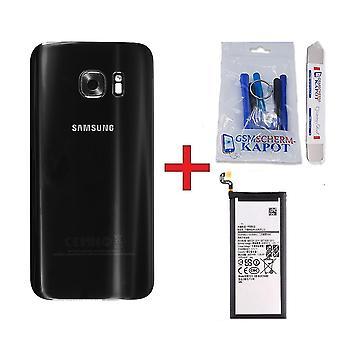 Pour Samsung Galaxy S7 Edge arrière et noir de batterie