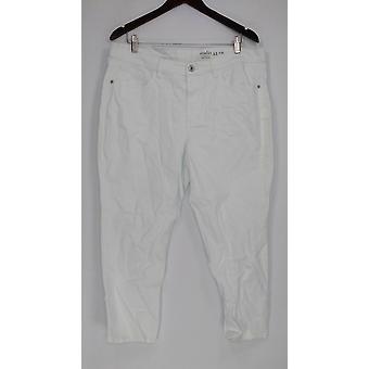 Denim & Co. Women's Petite Jeans Classic Denim Skinny White A304477
