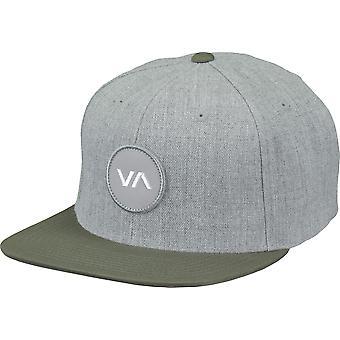 RVCA VA Sport Mens VA Patch Snapback Hat - Gray Heather/Olive