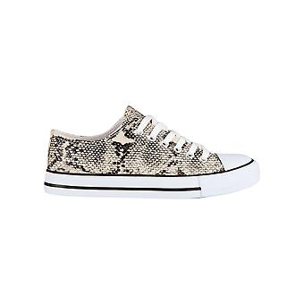KRISP Snake Print Low Top Trainers