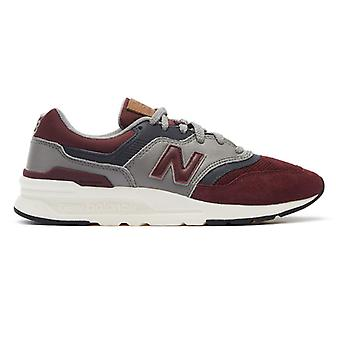 New Balance 997 Mens Burgundy Leather Trainers
