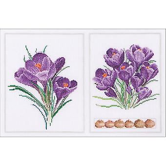 Crocus Panel On Aida Counted Cross Stitch Kit-14